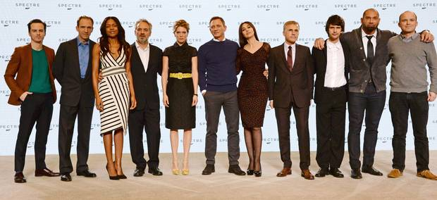 دنیل کریگ، کریستوف والتز و مونیکا بلوچی در اسپکتر، فیلم جدید جیمز باند