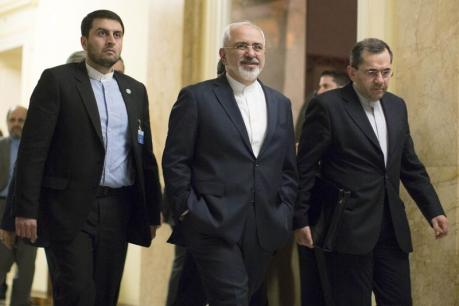 Iran's Foreign Minister Javad Zarif walks away after a day long talks with United States Secretary of State John Kerry over Iran's nuclear program in Lausanne