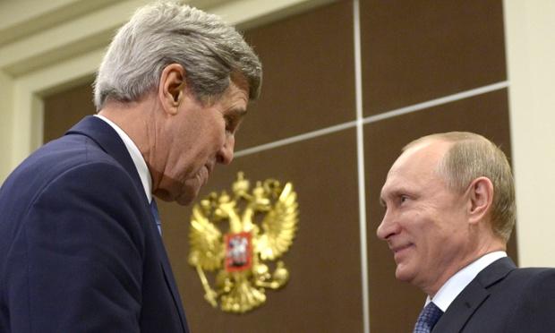 گفتگوی بی پرده کری با پوتین در شهر سوچی روسیه