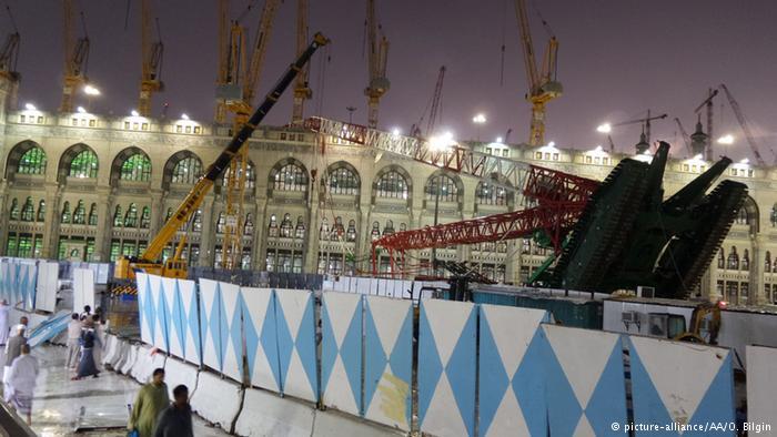 سقوط جرثقیل در مسجدالحرام بیش از ۸۰ کشته به جا گذاشت