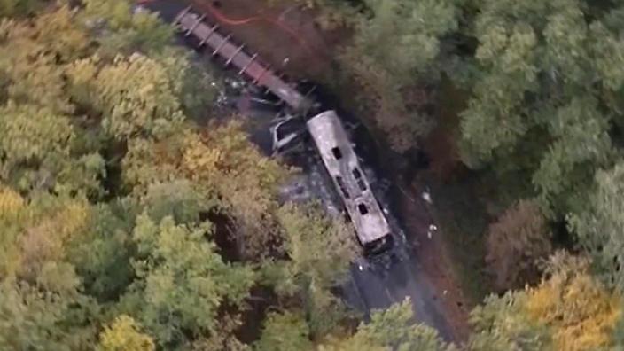 دستکم ۴۳ نفر در یک تصادف جادهای در فرانسه کشته شدند