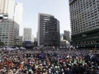 بزرگترین تجمع مخالفان ریاست جمهوری در کرهجنوبی